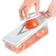 Fatiador Manual De Tomate, Cebola E Legumes Com Recipiente