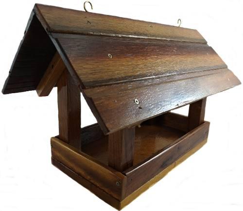 Casa De Madeira Comedouro Para Pássaros Silvestres