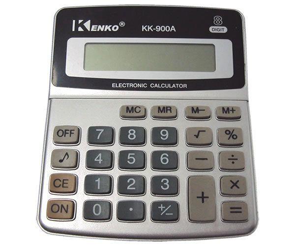 Calculadora De Mesa Kk-900a Display 8 Dígitos