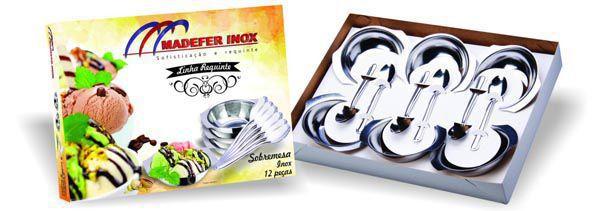 Conjunto Para Sobremesa Em Aço Inox 12 Peças