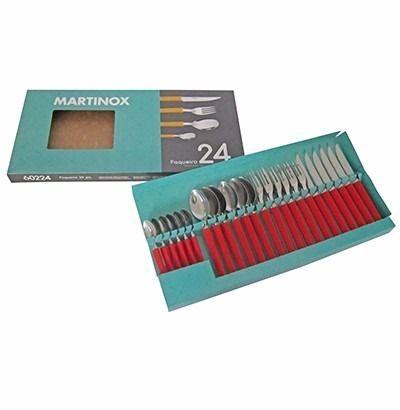 Faqueiro Martinox com 24 peças Vermelho