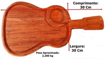 Tábua De Corte Viola Madeira Maciça 54 Cm