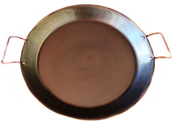 Tacho Gourmet Paellera Aço Carbono 54 Cm Com Alças
