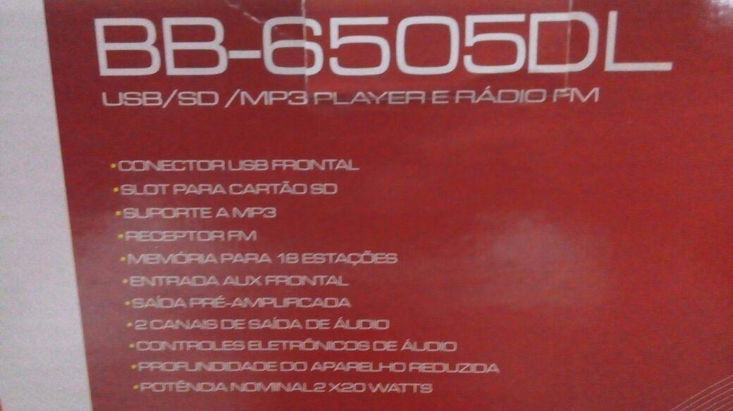 Toca Rádio Buster Bb-6505dl  Usb Sd  Fm Com Controle