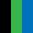 Preto/Verde/Azul