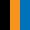 Preto/Laranja/Azul