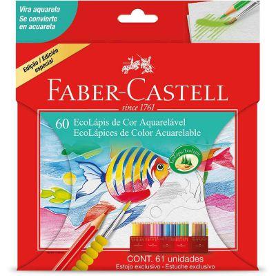Lápis de Cor Aquarelável 60 cores Faber-Castell