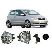 Kit Farol de Milha Neblina Vw Fox / Spacefox 2004 / 2005 / 2006 / 2007 / 2008 / 2009 - Interruptor A