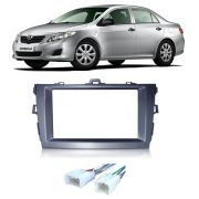 Moldura De Painel 2 Din Toyota Corolla  2009 á  2013 Para CD DVD 2 Dins - Padrão Original + Conector ISO
