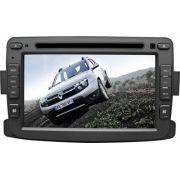 Central Multim�dia Renault Duster Sandero Logan Aut Com DVD GPS Mapa Bluetooth MP3 USB Ipod SD Card C�mera R� Gr�tis
