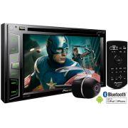 DVD Player Automotivo 2 Din Pioneer AVH-X2780BT Tela 6,2 Polegadas Com Entrada USB, Entrada Auxiliar