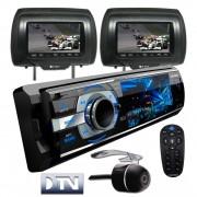 DVD Player Automotivo 1 Din Positron SP4700DTV Tela LCD 3 Polegadas Com TV Digital, Entrada USB, Ent