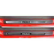 Jogo Soleira Premium Elegance Gm Agile 2010 2011 2012 2013 - 4 Portas ( Vinil + Resinada 8 Peças )