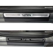 Jogo Soleira Premium Elegance Chevrolet Spin - ( Vinil + Resinada 4 Peças )