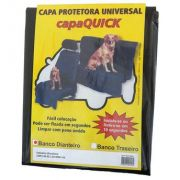 Capa Universal Quick para Banco Traseiro Dog - PVC - Preto - Car Fashion