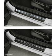 Jogo Soleira Premium Elegance Ford Focus 2009 2010 2011 2012 2013 - 4 Portas ( Vinil + Resinada 8 Peças )