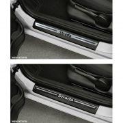 Jogo Soleira Premium Elegance Fiat Strada 2005 à 2019 - 2 Portas (Vinil + Resinada 4 Peças)