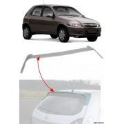 Aerofólio TG Poli Chevrolet Celta 2ª Geração 2006 à 2015 Sem LED 2 e 4 Portas Prata Aluminium