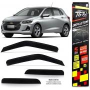 Calha Chuva Defletor TG Poli Chevrolet Onix Hatch Nova Geração 2020 2021 2022 - 4 Portas