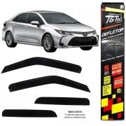 Calha Chuva Defletor TG Poli Toyota Corolla Sedan 2020 4 Portas