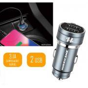 Carregador Veicular Celular Tomada USB 12V Hurricane