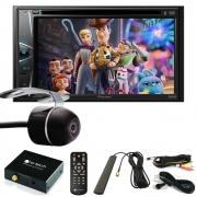 """DVD Player Automotivo 2 DIN Pioneer AVH-G228BT Tela 6,2"""" - Bluetooth Com Entrada USB + Câmera de Ré + Receptor Sintonizador TV Digital"""