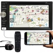 """DVD Player Automotivo 2 Din E-Tech Universal Tela 6.2"""" Espelhamento Bluetooth USB Rádio + Câmera de Ré"""