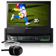 DVD Player Automotivo Retrátil Pioneer AVH-Z7280TV Tela 7 Polegadas Com TV Digital Bluetooth USB + Câmera de Ré