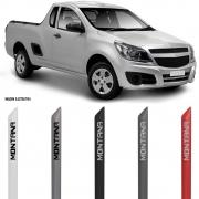 Jogo Friso Lateral Pintado Chevrolet Nova Montana 2011 2012 2013 2014 2015 2016 2017 2018 2019 - Cor Original