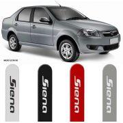 Jogo Friso Lateral Pintado Fiat Siena 2012 2013 2014 2015 2016 - Cor Original
