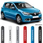 Jogo Friso Lateral Pintado Renault Sandero 2015 2016 2017 2018 2019 2020 - Cor Original