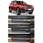 Jogo Soleira Premium Elegance Renault Duster 2011 à 2022 - 4 Portas ( Vinil + Resinada 8 Peças )