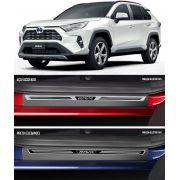 Jogo Soleira Premium Elegance Toyota Rav4 2020 - 4 Portas ( Vinil + Resinada 8 Peças )