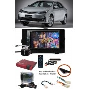 Kit Combo DVD Pioneer AVH-G228BT  + Moldura de Painel 2 Din + Chicote C/ Adaptador de Antena + Interface + Sintonizador + Câmera de Ré Toyota Corolla GLI 2017 2018 2019