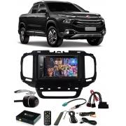 Kit Combo DVD Pioneer AVH-G228BT + Moldura de Painel 2 Din + Chicote + Câmera de Ré + Sintonizador TV Digital E-Tech Fiat Toro