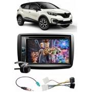 Kit Combo DVD Pioneer AVH-G228BT + Moldura de Painel 2 Din + Chicote + Câmera de Ré Renault Captur