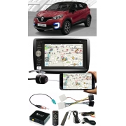 Kit Combo DVD Player E-Tech + Moldura de Painel 2 Din + Chicote + Câmera de Ré + Sintonizador TV Digital E-Tech Renault Captur