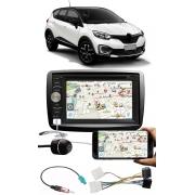 Kit Combo DVD Player E-Tech + Moldura de Painel 2 Din + Chicote + Câmera de Ré Renault Captur