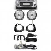 Kit Farol de Milha Fiat Fiorino 2014 Em Diante Botão Alternativo + Kit Lâmpada Super LED 6000K