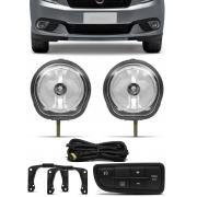 Kit Farol de Milha Fiat Grand Siena 2012 2013 2014 2015 2016 2017 2018 2019 2020 2021 - Botão Painel