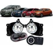 Kit Farol de Milha Neblina Chevrolet Cobalt / Spin / Novo Prisma / Onix LT / LTZ 2013 á 2015 + Interruptor Modelo Original