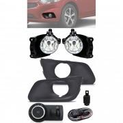 Kit Farol de Milha Neblina Chevrolet Joy Hatch e Sedan 2020 2021 Com Moldura