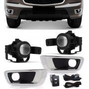 Kit Farol de Milha Neblina Chevrolet S10 S-10 e Trailblazer 2012 2013 2014 2015