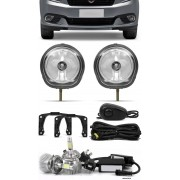 Kit Farol de Milha Neblina Fiat Grand Siena 2012 2013 2014 2015 2016 2017 2018 2019 2020 + Kit Lâmpada Super LED 6000K