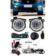 Kit Farol de Milha Neblina Fiat Mobi - Interruptor Alternativo + Kit Xenon 6000K 8000K ou Kit Lâmpada Super LED 6000K