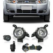 Kit Farol de Milha Neblina Ford Fiesta 2008 2009 2010 2011