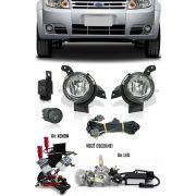 Kit Farol de Milha Neblina Ford Fiesta 2008 2009 2010 2011 + Kit Xenon 6000K 8000K ou Kit Lâmpada Super LED 6000K