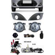 Kit Farol de Milha Neblina Ford Fiesta 2011 2012 2013 2014 + Kit Xenon 6000K 8000K ou Kit Lâmpada LED