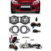 Kit Farol de Milha Neblina Ford Focus Hatch e Sedan 2014 2015 + Kit Xenon 6000K 8000K ou Kit Lâmpada Super LED 6000K