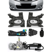 Kit Farol de Milha Neblina Honda City 2009 2010 2011 + Kit Lâmpada Super LED 6000K